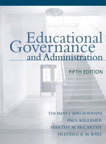 Educational Governance and Administration  5th 2004 (Revised) 9780205380862 Front Cover