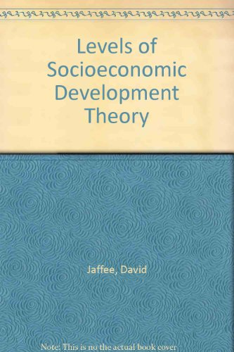 Levels of Socio-Economic Development Theory   1990 9780275932862 Front Cover