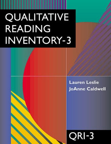 Qualitative Reading Inventory  3rd 2001 edition cover