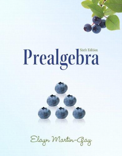 Prealgebra  6th 2011 edition cover