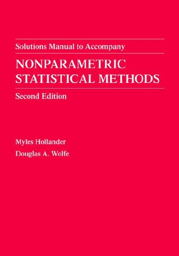 Nonparametric Statistical Methods, Solutions Manual  2nd 1999 (Revised) 9780471329862 Front Cover