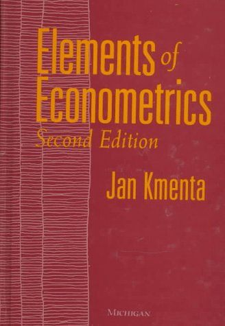 Elements of Econometrics  2nd 1997 (Reprint) 9780472108862 Front Cover