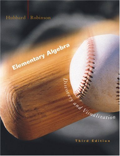 Elementary Algebra Discovery and Visualization 3rd 2003 9780618223862 Front Cover