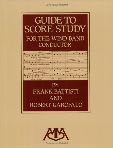 Guide to Score Study for the Wind Band Conductor  N/A edition cover