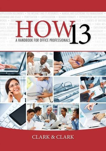 How 13 A Handbook for Office Professionals 13th 2014 edition cover