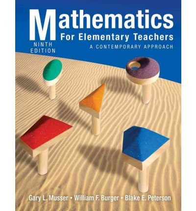 Mathematics for Elementary Teachers : A Contemporary Approach 9th Edition with Student Activitiy Manual Set  2011 9781118029862 Front Cover