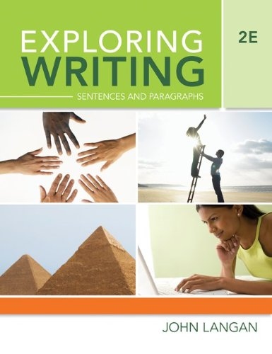 Exploring Writing Sentences and Paragraphs 2nd 2010 9780073371863 Front Cover