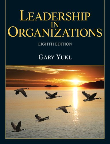 Leadership in Organizations  8th 2013 (Revised) edition cover