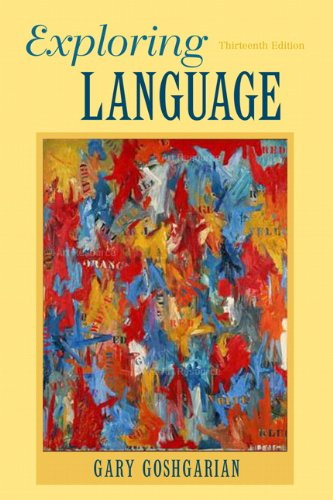 Exploring Language  13th 2012 edition cover