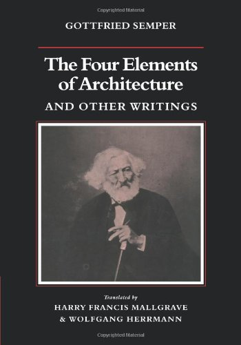Four Elements of Architecture and Other Writings   2010 9780521180863 Front Cover