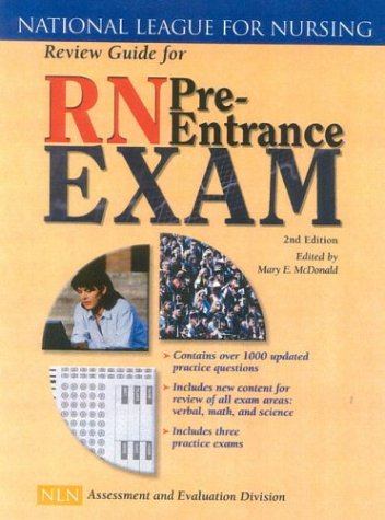 Review Guide for RN Pre-Entrance Exam  2nd 2004 (Revised) edition cover