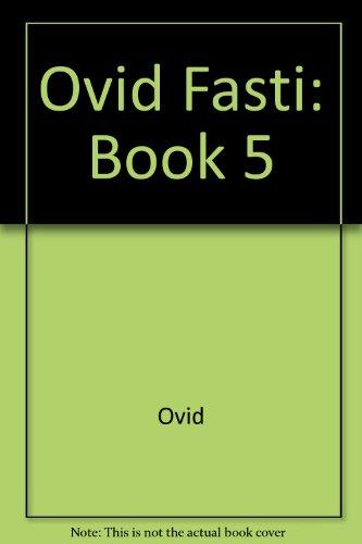 Ovid Fasti  N/A edition cover