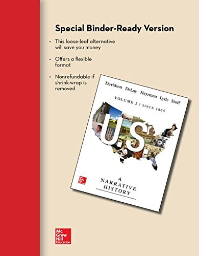 Looseleaf for US: a Narrative History, Volume 2: Since 1865  7th 2015 edition cover