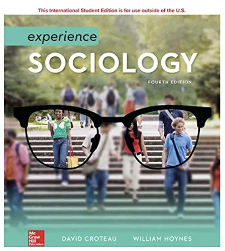 ISE Experience Sociology 4th 9781260547863 Front Cover