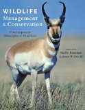 Wildlife Management and Conservation Contemporary Principles and Practices  2013 edition cover