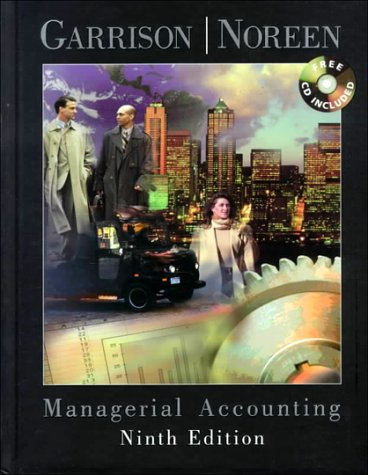 Managerial Accounting  9th 2000 edition cover
