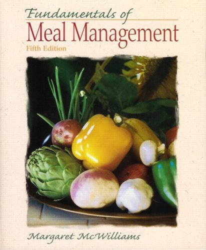 Fundamentals of Meal Management  5th 2009 edition cover