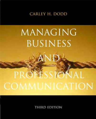 Managing Business and Professional Communication  3rd 2012 edition cover
