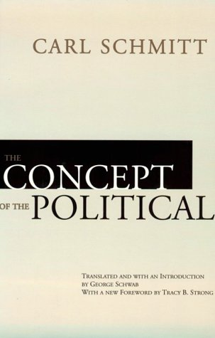 Concept of the Political  Reprint  edition cover