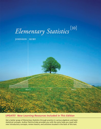 Elementary Statistics  10th 2008 edition cover