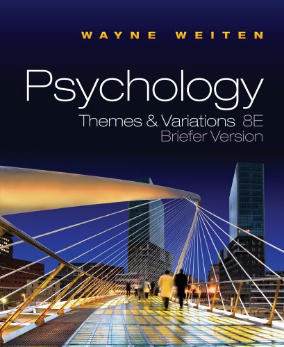 Psychology Themes and Variations Briefer Version 8th 2011 edition cover