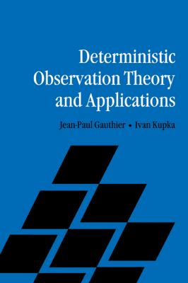 Deterministic Observation Theory and Applications   2010 9780521183864 Front Cover