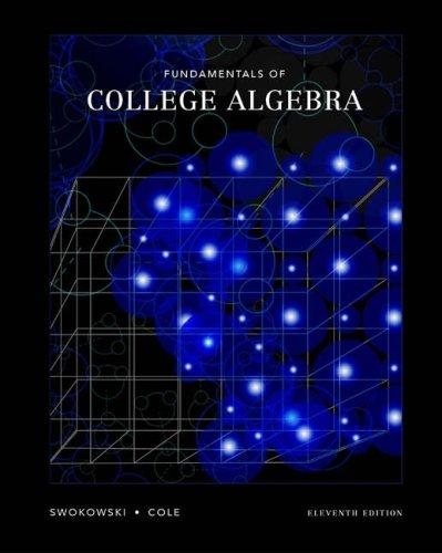 Fundamentals of College Algebra  11th 2005 (Revised) edition cover
