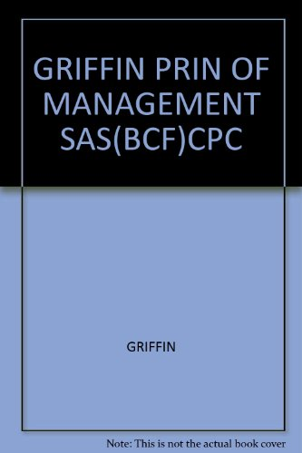 PRINCIPLES OF MANAGEMENT >CUSTOM<       N/A 9780618922864 Front Cover