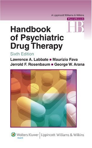 Handbook of Psychiatric Drug Therapy  6th 2010 (Revised) edition cover