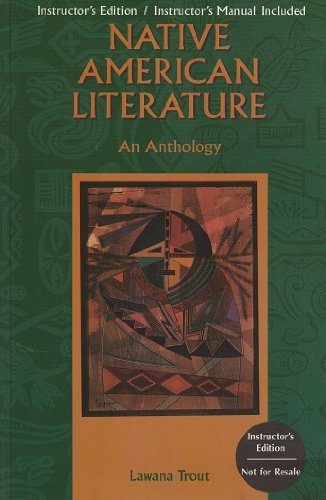 Native American Literature An Anthology Teachers Edition, Instructors Manual, etc.  edition cover