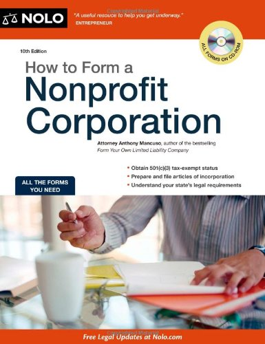 How to Form a Nonprofit Corporation  10th 2011 (Revised) edition cover