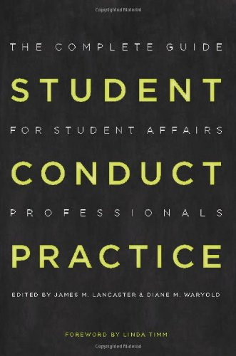 Student Conduct Practice The Complete Guide for Student Affairs Professionals  2008 edition cover