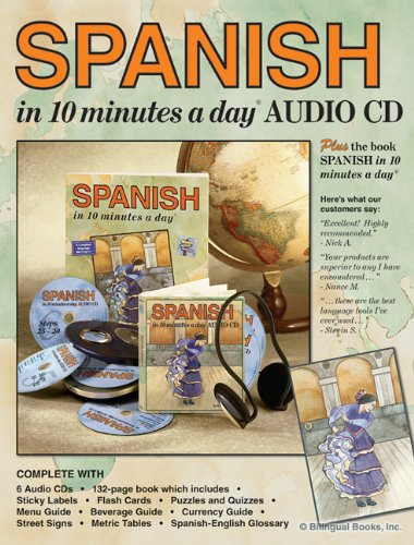 Spanish in 10 Minutes a Day�  N/A 9781931873864 Front Cover