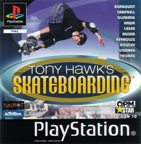Tony Hawk's Skateboarding PlayStation artwork