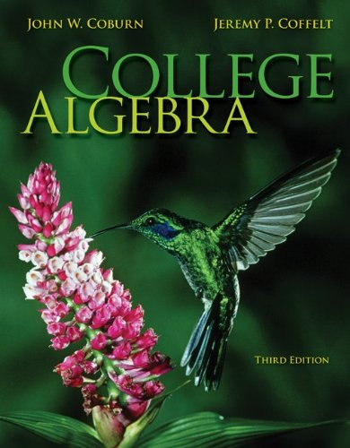 Student Solutions Manual for College Algebra  3rd 2014 edition cover