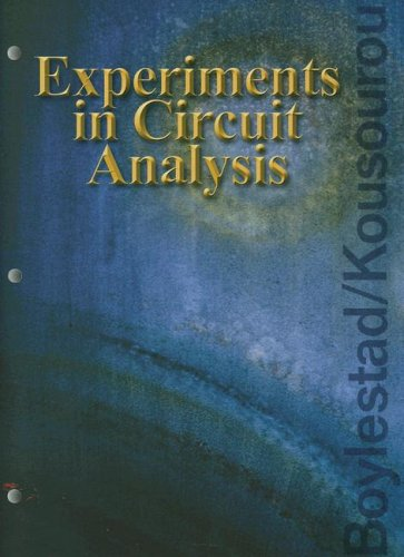 Experiments in Circuit Analysis   2004 edition cover
