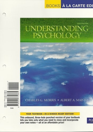 Understanding Psychology, Books a La Carte Edition:  9th 2009 9780205772865 Front Cover