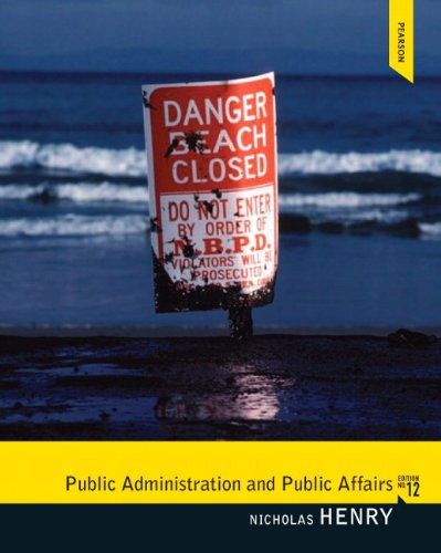Public Administration and Public Affairs  12th 2012 (Revised) edition cover