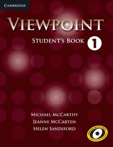 Viewpoint Level 1 Student's Book   2012 edition cover