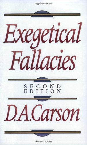 Exegetical Fallacies  2nd 1996 edition cover