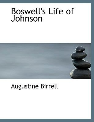 Boswell's Life of Johnson N/A 9781113630865 Front Cover