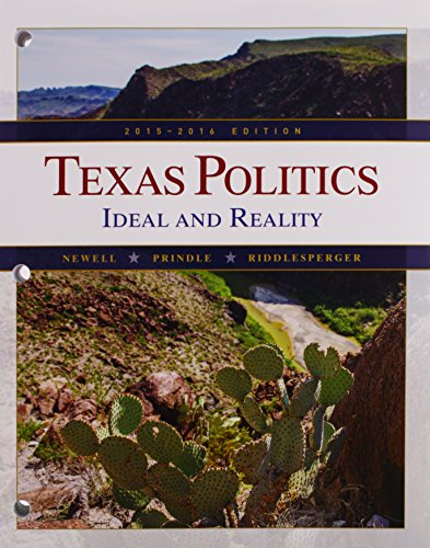 Texas Politics 2015-2016: Ideal and Reality  2015 9781305633865 Front Cover