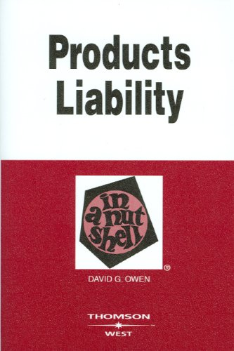 Products Liability  8th 2008 (Revised) edition cover