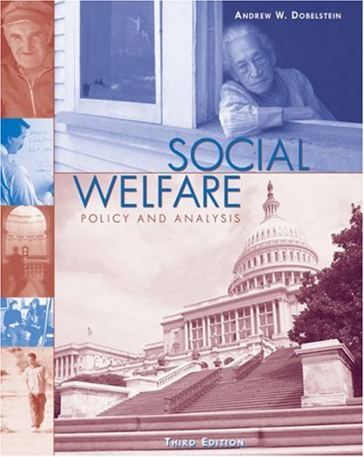 Social Welfare Policy and Analysis 3rd 2003 (Revised) 9780534509866 Front Cover