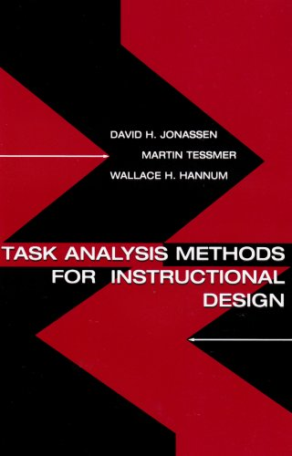 Task Analysis Methods for Instructional Design   1998 9780805830866 Front Cover