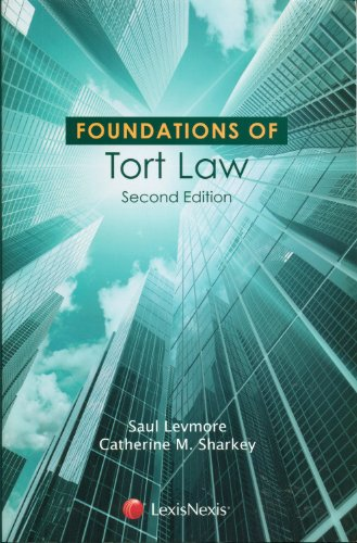 Foundations of Tort Law:   2012 edition cover