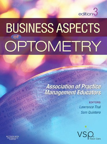 Business Aspects of Optometry  3rd 2010 edition cover