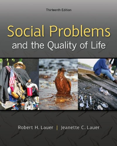 Social Problems and the Quality of Life:   2013 edition cover