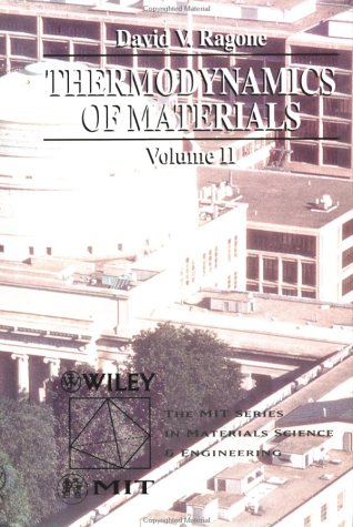 Thermodynamics of Materials   1995 edition cover