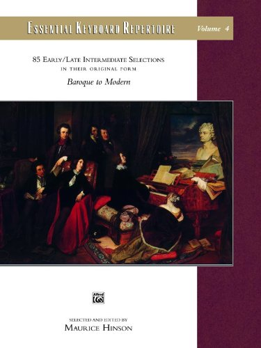 Essential Keyboard Repertoire, Vol 4 85 Early / Late Intermediate Selections in Their Original Form - Baroque to Modern  1994 edition cover